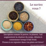 Saison Vata – Les épices à privilégier